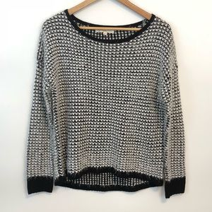 Rewind Knit Sweater Black and White Soft